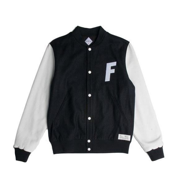 FAIRPLAY VARSITY - BLACK 棒球外套 休閒 【GT Company】