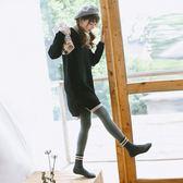 冬季2200D加絨的加厚連褲襪 日繫深灰色帶腳打底襪子打底褲女踩腳【全館89折低價促銷】