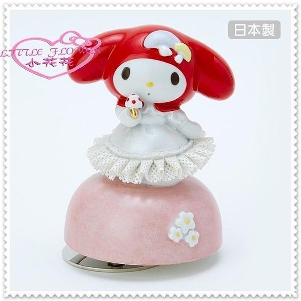 小花花日本精品♥ Hello Kitty 美樂蒂 音樂鈴 療癒小物擺飾收藏陶瓷音樂偶 紅色站姿 11409106