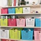 TwinS日式時尚簍空【小號】收納籃雜物籃整理盒【顏色一律隨機】