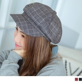 《ZC1213》細格紋八角報童帽 OrangeBear