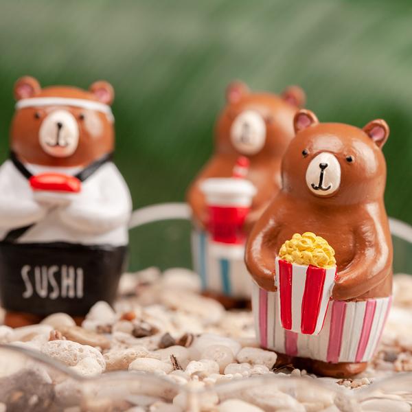 熊熊花插擺飾3件組-生活工場