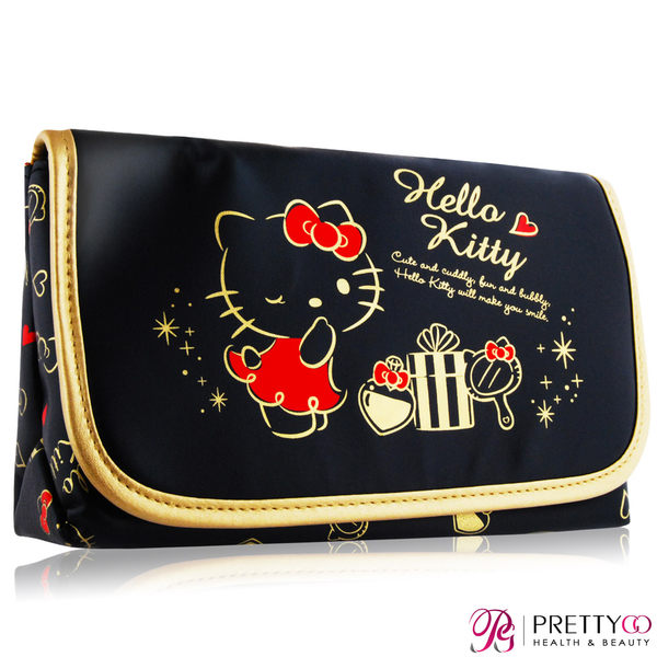 SHISEIDO 資生堂 三麗鷗 Hello Kitty化妝包(20X12X6.5cm)【美麗購】
