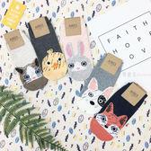 【KP】襪子 造型襪 可愛 動物系列 塗鴉版 流行襪 短襪 韓國製 DTT100007725
