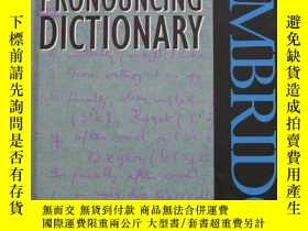 二手書博民逛書店英文原版罕見ENGLISH PRONOUNCING DICTIO