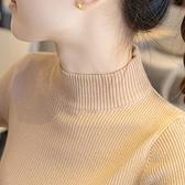 半高領毛衣打底衫女秋冬裝年新款內搭長袖上衣百搭修身針織衫【新春特惠】