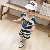 童裝夏裝1-3-5歲中小童男童兒童寶寶純棉洋氣短袖套裝潮 小確幸生活館