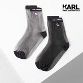 【KARL LAGERFELD】IKONIK運動休閒襪組-黑/銀