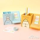 角落生物木製斜蓋兩用置物盒- Norns 正版授權 恐龍 貓咪 白熊 雙格桌上收納盒 筆筒