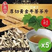 【南紡購物中心】【麗紳和春堂】厚切黃金牛蒡茶片(100g/包)-5包組