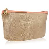 Sisley 希思黎 粉色拉鍊皮革化妝包(18x7.5x13cm)【美麗購】