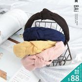 髮箍 立體打結寬邊造型麂皮絨髮圈-BAi白媽媽【180500】