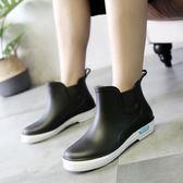 雨鞋男 短筒雨鞋男秋冬雨靴水鞋防滑低筒廚房廚師工作膠鞋中筒洗車防水鞋 芭蕾朵朵