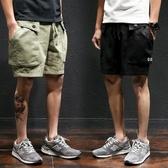 工裝褲男潮牌寬鬆多口袋大碼褲子休閒五分褲男士短褲夏季沙灘中褲
