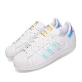 adidas 休閒鞋 Superstar 白 反光 炫彩 女鞋 小白鞋 貝殼頭 【PUMP306】 EG2919
