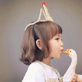 生日帽 小公主party生日帽生日派對金色皇冠頭箍裝飾兒童發箍寶寶宴布置【東京衣秀】