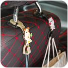 [超豐國際]創意椅背多功能可愛卡通車載掛鉤車用靠背車內座椅汽車用品
