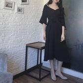 【新年鉅惠】大碼女裝一字領吊帶禮服裙收腰連身裙
