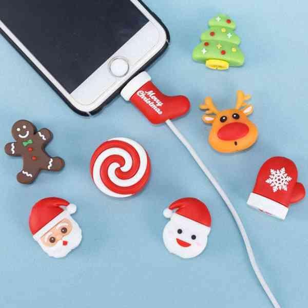 聖誕節限定! iPhone 咬線器 線套 繞線器 充電線 傳輸線 保護套 防斷 療癒 禮物 紓壓 『無名』 N11109