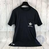BRAND楓月 CHROME HEARTS 克羅心 黑星星上衣 #M 短袖 T恤 短T 大LOGO 100%棉 男女款