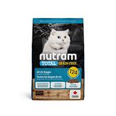 寵物家族-[輸入NT99享9折]紐頓Nutram-T24無穀貓鮭魚5.4KG