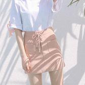 618好康鉅惠 麂皮絨半身裙女春夏2018新款A字高腰包臀短裙