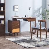 書桌台 實木書桌簡約北歐小型伸縮臥室學習桌子家用學生寫字台電腦台式桌【美物居家館】