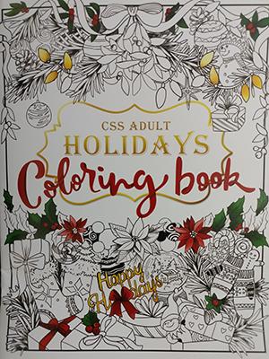 [只有1個] Coloring book 減壓填色簿 17頁(聖誕篇)_z01