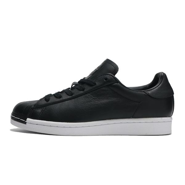 ADIDAS 休閒鞋 SUPERSTAR PURE 全黑 皮革 貝殼頭 女(布魯克林) FV3353