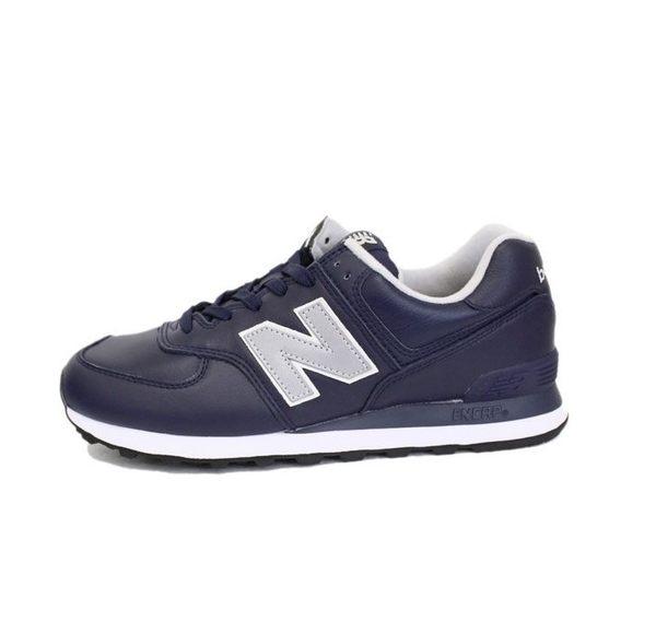 NEW BALANCE 男女基本款 深藍色運動慢跑鞋 NO.ML574LPN