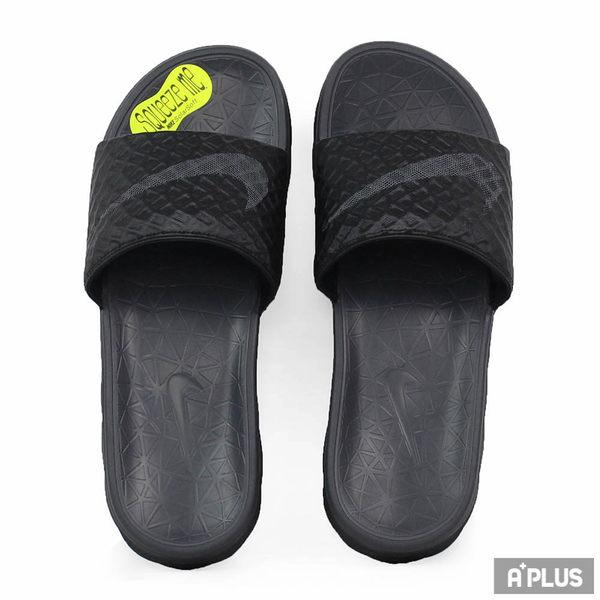 NIKE 男 BENASSI SOLARSOFT 拖鞋 黑 -705474091