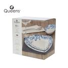 英國Churchill Queens 12件餐具組(藍色花邊-附原裝彩盒)