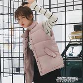 羽絨棉馬甲女bf馬甲短款韓版chic棉背心學生女坎肩外套