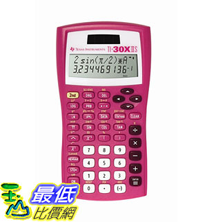[7美國直購] 計算器 Texas Instruments TI-30X IIS 2-Line Scientific Calculator, Pink