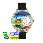 [美國直購 ShopUSA] 手錶 Whimsical Watches Unisex U1610013 Trains Black Skin Leather Watc $2018
