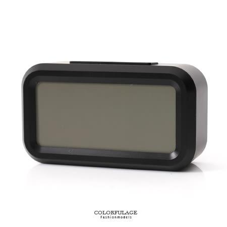 鬧鐘 低調黑色LCD大數字呈現 語音報時感光聰明鐘 溫度.貪睡多功能 柒彩年代【NV1】創意配件