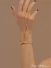 手鐲 同款手鐲一體式戒指水鑚錬條氣質長款尾戒指男女指環手錬 俏girl