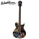 【非凡樂器】Washburn WI64ANC Les paul型 Nick Catanese簽名款迷彩琴 基本配備/原廠全附件
