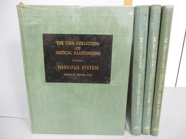 【書寶二手書T7/大學理工醫_EX8】The CIBA Collection-Nervous System_Digestive System等_共4本合售