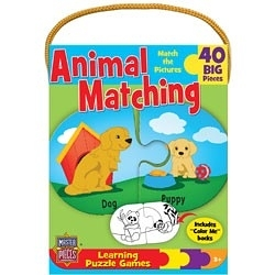[KANGA GAMES]雙面拼圖 學習遊戲 - 動物配對 Learning Games - Animal Matching 40片