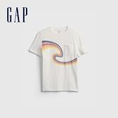 Gap男童 創意印花貼袋短袖T恤 689849-白色