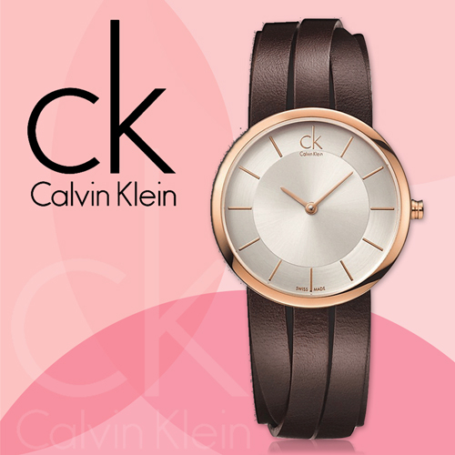 CK 手錶專賣店 K2R2S6G6 小 K2R2M6G6  女錶  指針  玫瑰金 皮革錶帶 礦物抗磨玻璃