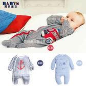 連身衣 海軍 條文風格 舒適  棉質 長袖 包屁衣  三款 寶貝童衣