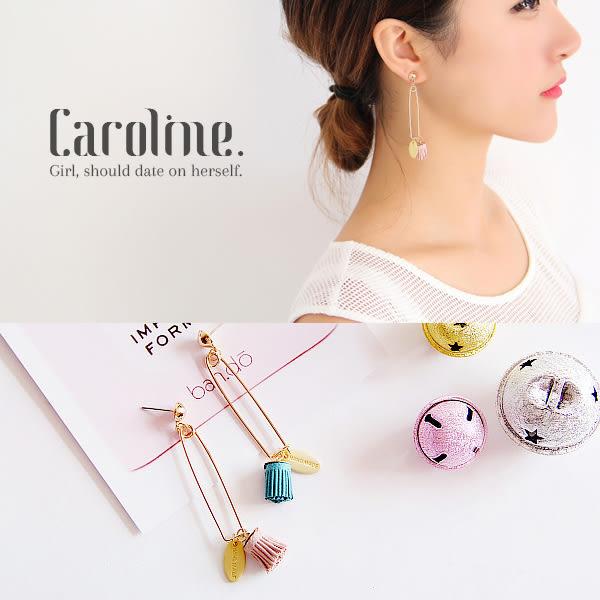 《Caroline》★韓國官網熱賣甜美可愛彩色流蘇別針造型優雅浪漫風格時尚流行耳環69452