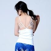 瑜珈背心-速乾彈力性感美背無袖女運動服5色73rh9【時尚巴黎】