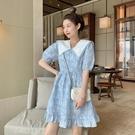 碎花連衣裙夏 泡泡袖碎花連衣裙女裝夏季2021新款法式初戀桔梗設計感小個子裙子 設計師