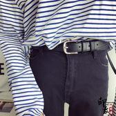 韓國uzZlang青少年皮帶學生黑簡約百搭軟皮帶女腰帶牛仔褲帶搭配【中秋好康推薦】