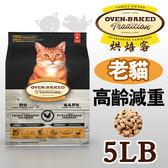 PetLand寵物樂園《加拿大 Oven-Baked烘焙客》非吃不可 - 減重高齡貓配方 5磅 / 貓飼料 送同品項1kg