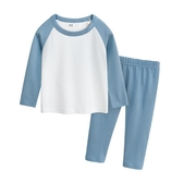 兒童睡衣 男孩長袖中小童家居服寶寶純棉女童內衣套裝 莎瓦迪卡