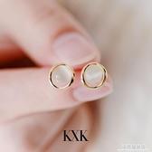 貓眼石耳釘女韓國網紅氣質耳飾2020年新款潮耳夾無耳洞純銀耳環 極簡雜貨